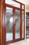 Алюминиевые раздвижные двери с Tempered стеклом, алюминиевым окном