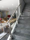 Pasamano de la escalera del acero inoxidable y del vidrio Tempered con la certificación del Ce