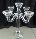 結婚式の装飾のための5枚のポスターが付いている水晶蝋燭ホールダー