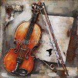 pintura del metal 3D para una muchacha que juega el violoncello