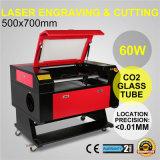 Cortador de la máquina de grabado del grabador del corte del laser del CO2 60W de Kh750 700*500m m