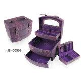 Коробка ювелирных изделий случая ювелирных изделий конструкции PU легкого портативная пишущая машинка кожаный новаторская