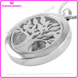 Locket essentiel de parfum de collier de diffuseur d'Oli d'arbre de bijou d'aromathérapie