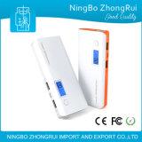 Alta capacidad batería de la potencia de 20000 mAh con el micr3ofono ligero 2 del IOS Andriod de LCD/LED en la batería 1power