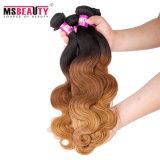 Extensão brasileira do cabelo humano de Remy do cabelo do Virgin da classe superior