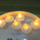 Decoración de Navidad LED sin llama parpadeo del té encender velas