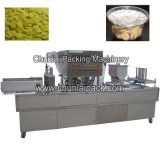 Os Cornflakes colocam a máquina de enchimento e de selagem