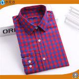 Chemisier de chemise de dames d'OEM le long complète des chemises de chemisier de femmes de coton