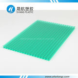 Hoja plástica hueco azul de Bayer Policarbonato del verde
