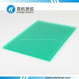 Feuille en plastique creuse bleue de Bayer Policarbonato de vert