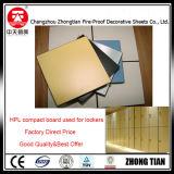 El tocador artesona la tarjeta del laminado del compacto de la pared de partición