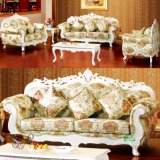 Sofá de madeira da tela com a tabela para a mobília Home (D929H)