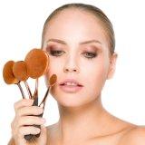 Spazzola cosmetica del fondamento di trucco della maniglia acrilica sintetica dei capelli di alta qualità