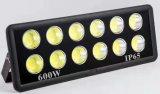高い発電極度の明るい600W LEDの洪水ライトをつけること