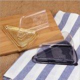 Caixa plástica transparente da bolha do sanduíche do triângulo