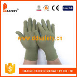 13 guanti di nylon verdi di bambù Dch124 del poliestere del calibro