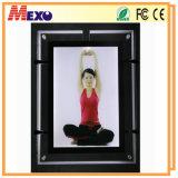 Caixa leve personalizada do diodo emissor de luz do frame de cristal da foto