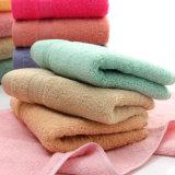 昇進の明白な染められた綿の表面/手/浴室タオル