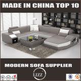 Sofa en cuir sectionnel de meubles de salle de séjour de modèle de l'Italie