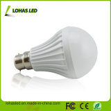 Do Ce plástico da luz de bulbo do diodo emissor de luz do fornecedor de China bulbo 2017 energy-saving do diodo emissor de luz do poder superior B22 9W SMD5730 da luz de bulbo do diodo emissor de luz de RoHS