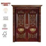 La entrada principal de Villa Doble Interior de madera de caoba / Puertas de madera (GSP1-005)