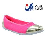 Серебряные ботинки балета Bf1610151 крышки пальца ноги PU патента