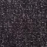 Lane del fiore composto e tessuti di cotone per l'inverno nel nero