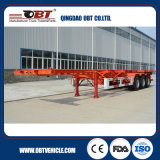 Air Suspension를 가진 세 배 Axles Skeletal Container Truck Semi Trailer