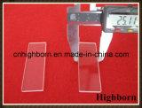 Glissières transparentes de microscope en verre de quartz de laboratoire d'espace libre de grande pureté