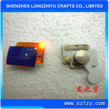 Insigne instantané à la mode fait sur commande en métal et insigne époxy estampé par PVC