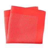 流行の赤い絹ポリエステル縞によって印刷される小型の正方形のハンカチのハンカチーフ