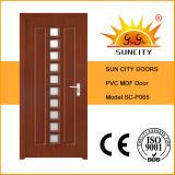 Prix en verre en bois intérieur de portes de modèle neuf (SC-P065)