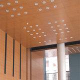 Placa acústica de madeira do teto dos materiais do Soundproofing