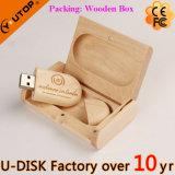 Noz/bambu/movimentação de madeira do flash do USB do Oval (YT-8103L)