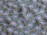 Polyester Chiffon- Velvet mit Printing (XSC011)