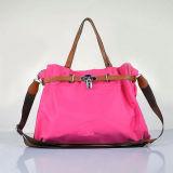 Mulheres novas da forma de nylon com do couro o saco de mão colorida (BS1211)