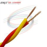 cabo de fio elétrico revestido do edifício do PVC do núcleo 450/750V de cobre
