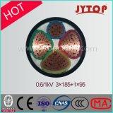 0,6 / 1kv 3 + 1 / Multicore base XLPE câble en cuivre