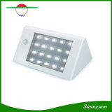 20 la lumière IP65 lumineux superbe de mur de yard de jardin de détecteur de mouvement de l'énergie solaire PIR de DEL 350lm imperméabilisent la lampe de garantie