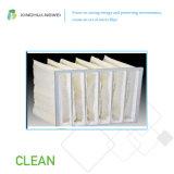 Poche Air-Étendue par Microfiber en verre de résistance thermique de filtre