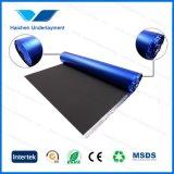 Espuma preta de EVA com o Underlayment impermeável azul do assoalho da folha de alumínio