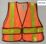 Het Vest van de Veiligheid van het netwerk met 4PC van 2 Weerspiegelende Stroken *16cm