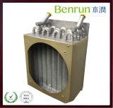 Evaporador de aluminio galvanizado refrigerado por agua de la aleta del tubo de cobre