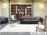Home SofaのためのBonded Leatherの居間Furniture Leather Sofa