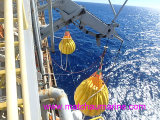 Davit-Kran-Eingabe-Wasser-Beutel-Prüfung belastet Waterbags