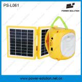 Складные солнечные света лагеря фонарика с заряжателем мобильного телефона для располагаться лагерем (PS-L061)