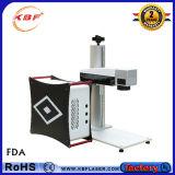 Máquina portable de la etiqueta de plástico del laser de la fibra de la impresora avanzada de goma de las piezas 20With 30With50W de la velocidad rápida