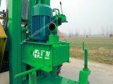 進むHf100tはトラクターの井戸の掘削装置を上運転する