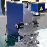 Máquina portátil da marcação do laser da fibra do transporte livre para a impressão do logotipo da tampa da jóia/MacBook/iPhone/mercadorias da cozinha
