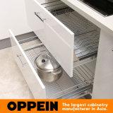 Armadio da cucina di legno di figura bianca dell'acrilico U di marca di Oppein (OP15-011)